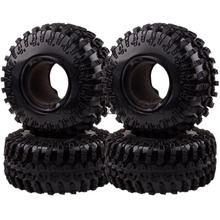 """4x 2.2""""  Rubber Tyre Tires AX-3021 For RC 1/10 BEADLOCK"""