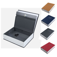 Dictionary Style Safe Box Blue Security Cash Money Safe Storage Box Case Size S Jewelry Locker