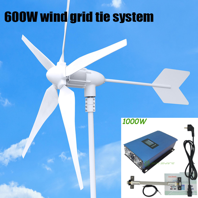 600W WIND GENERATOR +1000w AC22-60V/AC 45-90V 3phase input Wind GRID TIE INVERTER with LCD display for home/farm/boat/control фигурки игрушки playmates toys фигурка черепашки ниндзя мистический леонардо 12 см