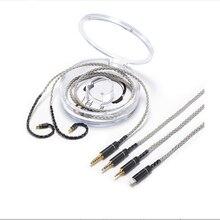 OKCSC A2DC Earphone Upgade Cable for ath-cks1100/LS200/LS70/LS50/E40/E50 Single Crystal Copper 2.5mm/4.4mm Balanced Plug 3.5mm