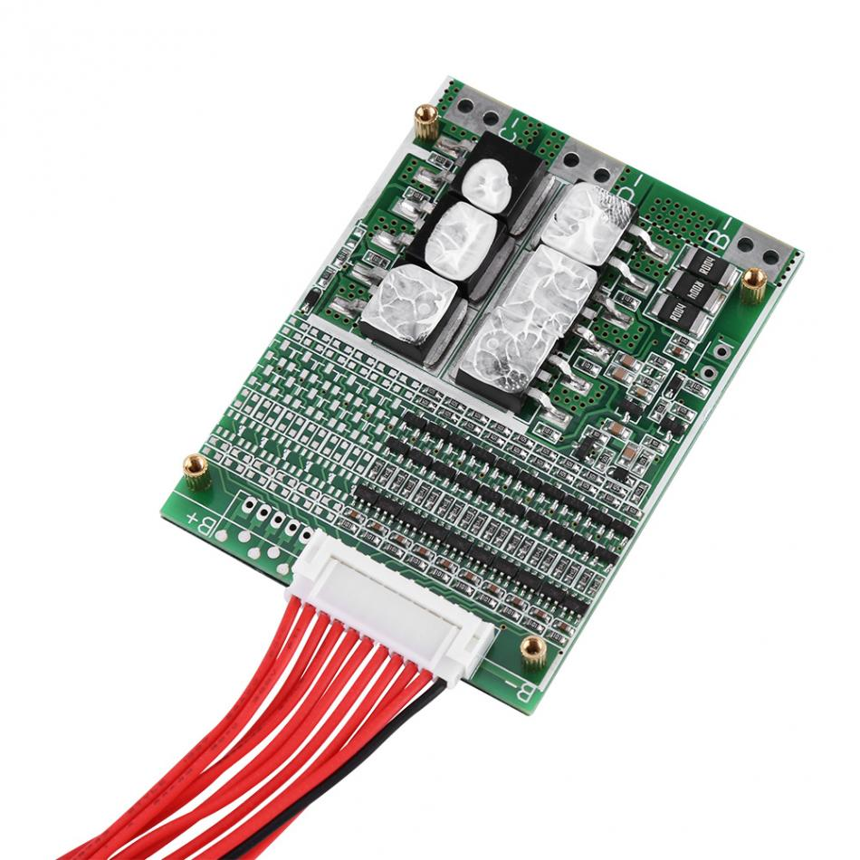 Protection Board 36V 35A 10S Li-ion Battery BMS Protection Board PCB for Ternary Cobalt Cells with Balancig Covertern Integrated