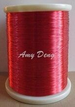 500 metros/lote 0.35mm nova esmaltado QA 1 155 poliuretano esmaltado rodada enrolamento vermelho