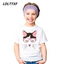 Здесь можно купить  Cartoon Cat Panda Horse Wolf Cotton Funny Children T-Shirts 2018 Summer Tops Short Sleeve Boys/Girls Clothing Casual Kids Tees  Children
