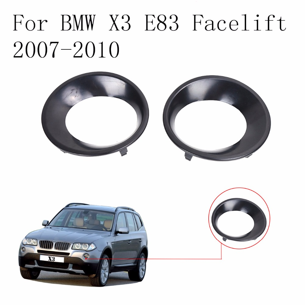 Car Styling Front Fog Driving Light Primed Grill Trims Ring Covers For BMW X3 E83 LCI 2007 2008 2009 2010 // lsrtw2017 car styling car trunk trims for honda crv 2017 2018 5th generation