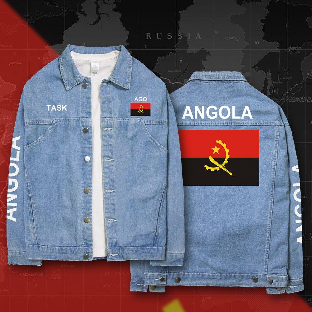 Republic of Angola Angolan AGO denim font b jackets b font font b men b font