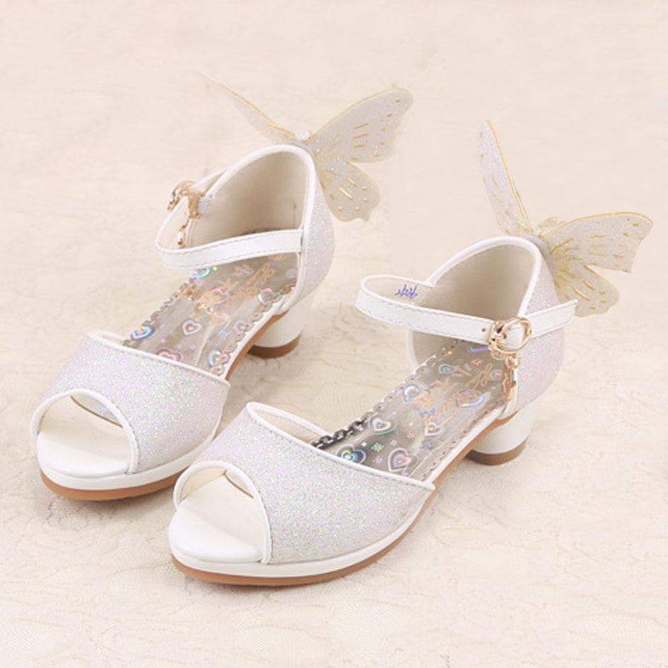 Wedding High Heels Sandals: Kitiin Kids Girls Summer Sandals High Heeled Flower Girls