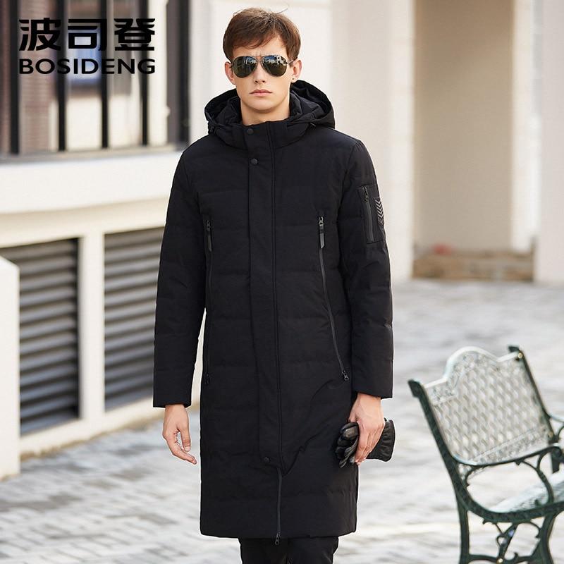bosideng new men down coat duck down jacket long parka winter thick warm outwear hood fashion X-long high quality B1601129 цена