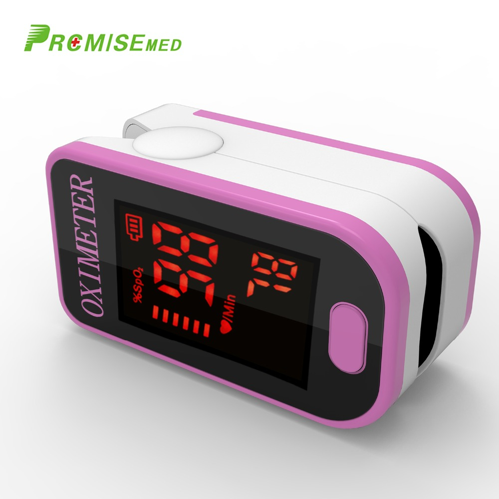 PRO-F4 Pulse Heart Rate Blood Oxygen SPO2 Saturation Monitor,Top Sports Daily System Finger Pulse Oximeter Tester - Cute Pink