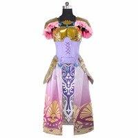 2018 Custom Made The Legend Of Zelda Princess zelda cosplay Costume Dress