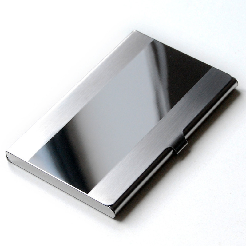 Business Card Holder Stainless Steel Card Wallet ID Credit Card ...