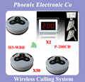 DHL FREE Shipping, One Set of Wireless Calling System For Waiter Server Paging Service,30 table Bell and 2 Display Receiver
