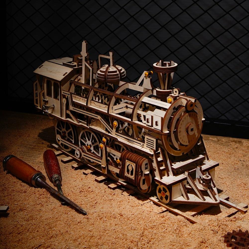 Robud Majelis Bergerak Lokomotif oleh Jamwork Musim Semi Kayu Model - Mainan bangunan dan konstruksi - Foto 2