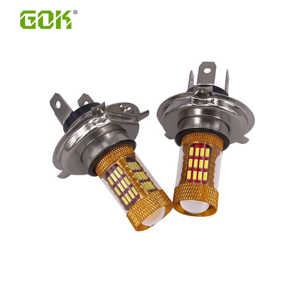 2pcs led h4 30w 60smd 4014  high power led bulb LED Turn Brake Stop Signal Tail Fog Bulb Light Lamp h7 h4 led bulb h4 fog light