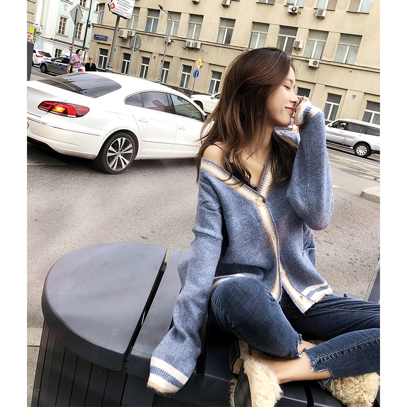 Mishow 2019 Autumn Winter New Women V Neck Knitted Cardigan Long Sleeve Female Casual Sweater Open Stich MX18C5222