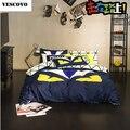 VESCOVO cotton monster machines bedding set queen size fend comforter set fitted sheet set