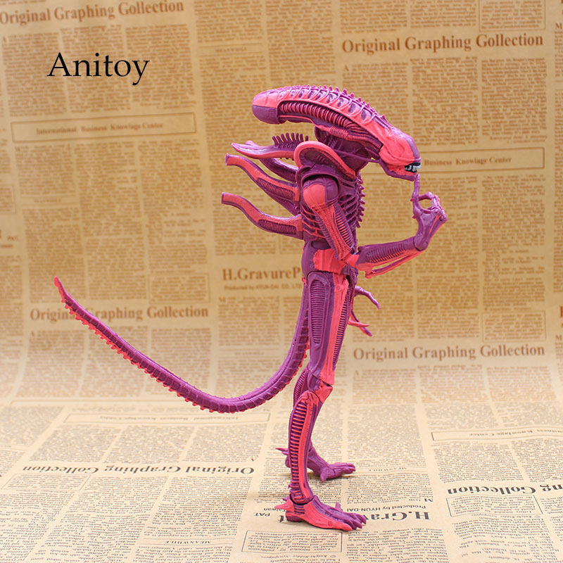 NECA ALIENS Red Alien with Chestburster & Facehugger PVC Action Figure Collectible Model Toy 1