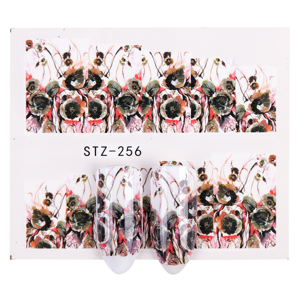 50Sheets Pretty Nails Wraps Flower Water Transfers Nail Art Stickers Foil Manicure Decals Decoration DIY Nail Tools XF1372 1421