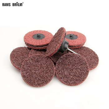 "100 pieces 3"" Roloc Scour Quick Change Sanding Disc Coarse to Fine Surface Conditioning Disc"