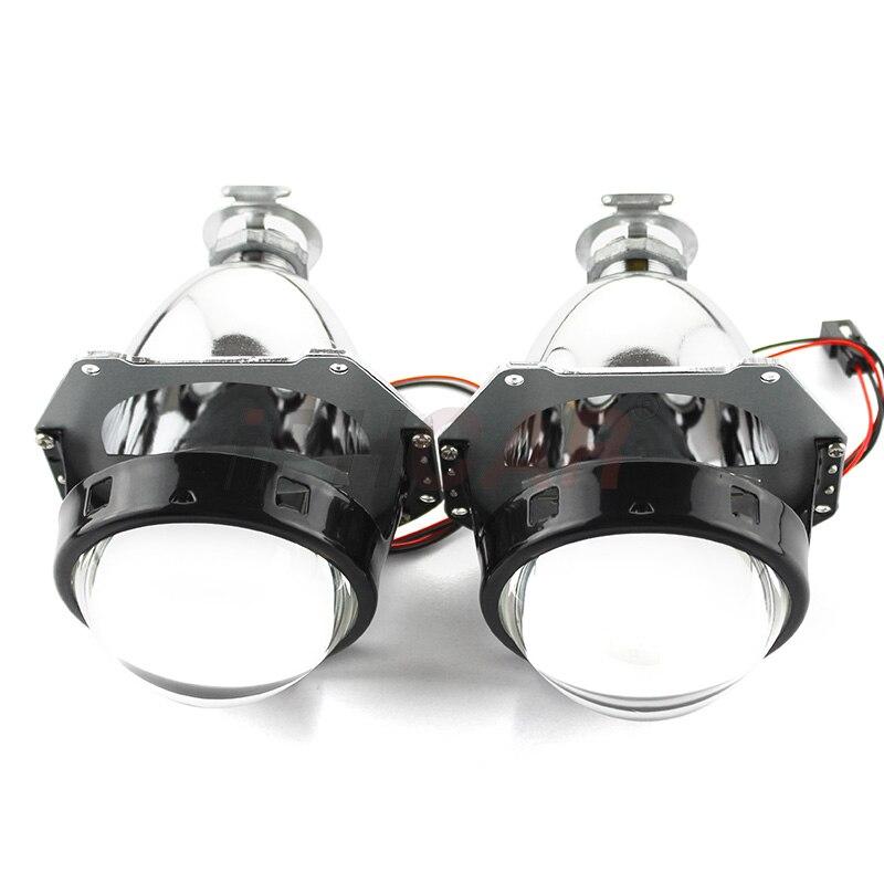 Livraison gratuite iphone Car style de voiture LHD/RHD LED ange yeux lumière Guide projecteur linceul Auto phare bi-xénon projecteur lentille