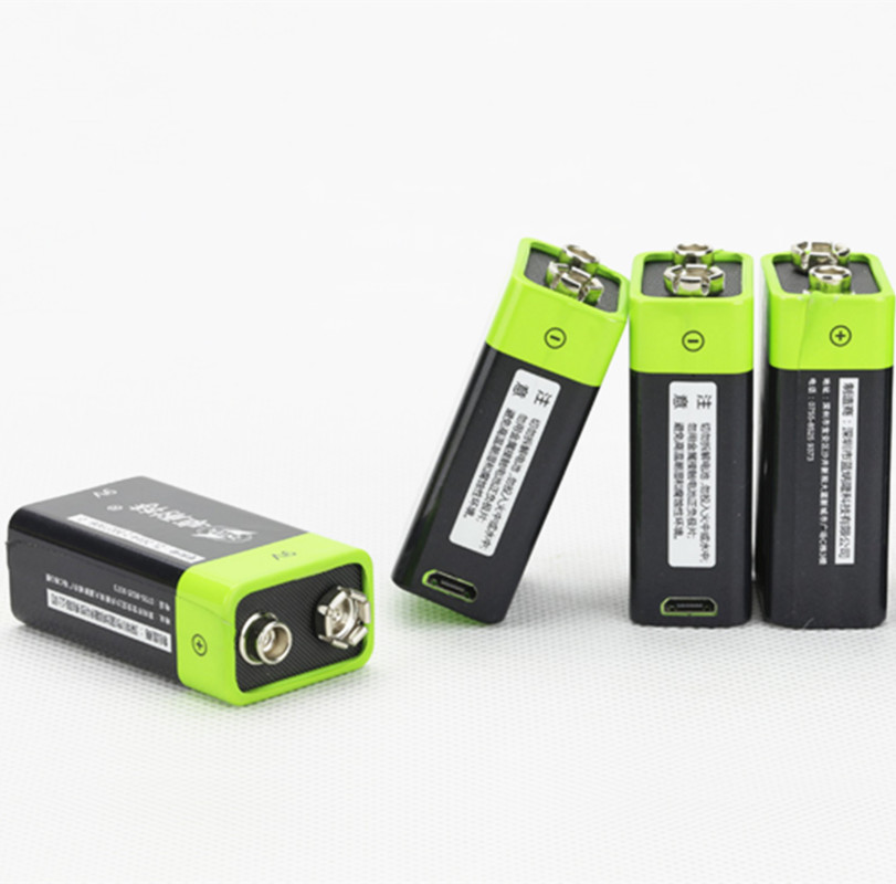 4PCS ZNTER S19 9V 400mAh USB Rechargeable 9V Lipo Battery For RC Camera Drone Accessories