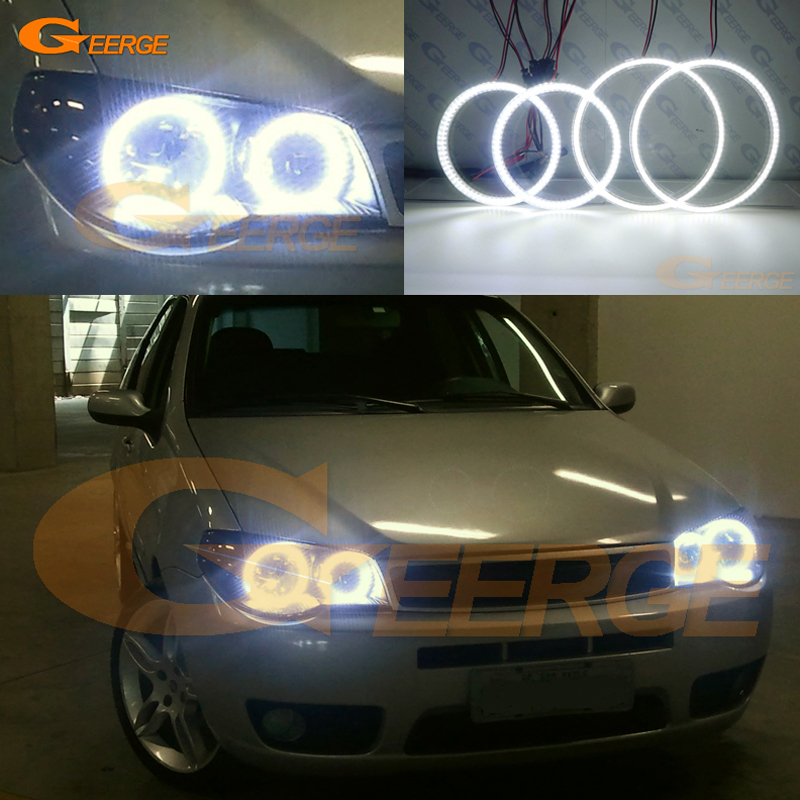 For FIAT PALIO 2004 2005 2006 Excellent angel eyes Ultra bright headlight illumination smd led Angel Eyes kit DRL неоновые кольца angel eyes duntuo smd 60 2