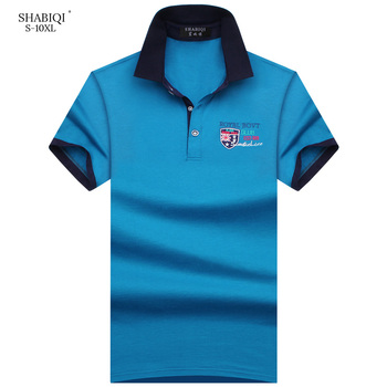 SHABIQI New 2019 Brand Polos Mens Embroidery POLO Shirt Men Cotton Short Sleeve Polo Shirt Casual Lapel Male Polo Shirt S-10XL new fashion polos high quality mens print short sleeve polo cotton casual polo shirt homme comfortable