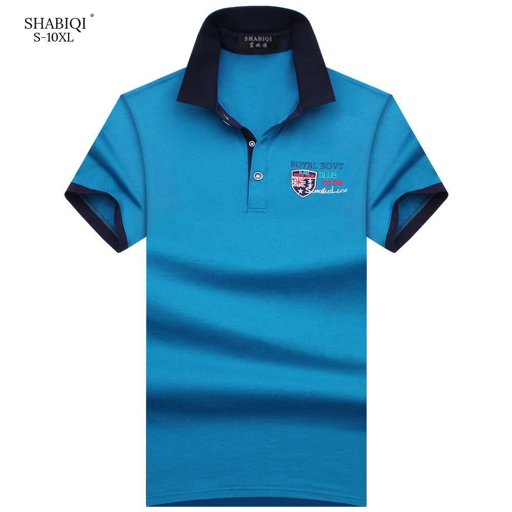SHABIQI New 2019 Brand   Polos   Mens Embroidery   POLO   Shirt Men Cotton Short Sleeve   Polo   Shirt Casual Lapel Male   Polo   Shirt S-10XL