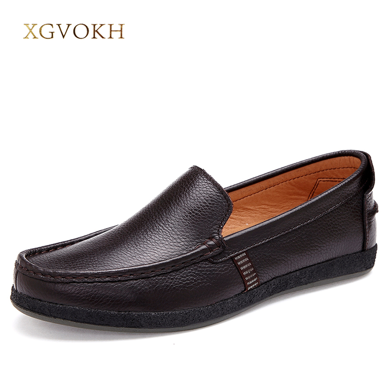 Men Loafers Genuine Cow leather Fashion Handmade Moccasins Leather Men Flats Black Slip On Men's Boat Shoe PLUS SIZE 38~47 pl us size 38 47 handmade genuine leather mens shoes casual men loafers fashion breathable driving shoes slip on moccasins