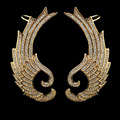 2PCS angel wing design gold plated zircon ear cuff earrings for women,high quality micro pave AAA CZ stone fashion jewelry