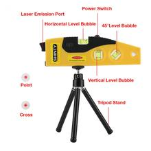 Straight angle calibration adjustment tool with tripod bracket 1 cross line / point laser level