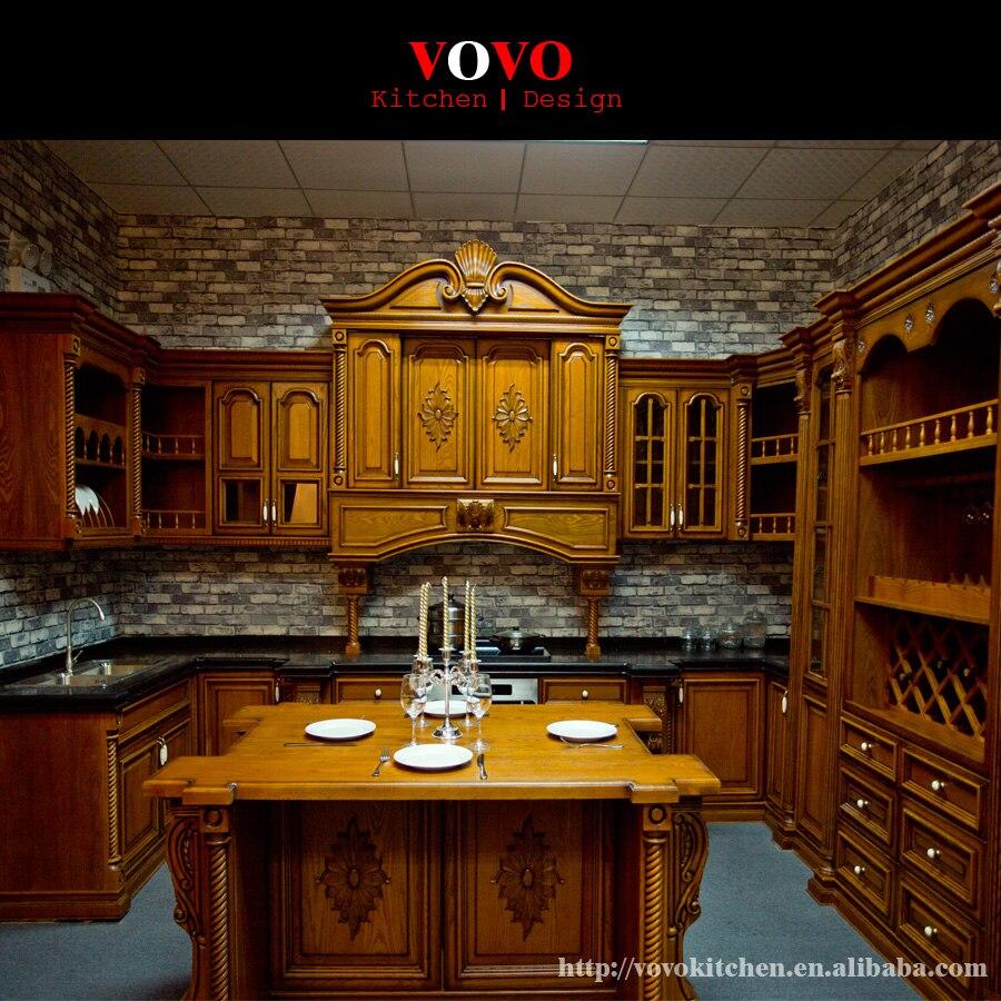 European Kitchen Furniture Equiped Luxury Roman Column