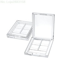 4 Grids Persegi Panjang Eyeshadow Pigmen Kosong Wadah Palet Plastik Portable Lipstik Dispenser Case Tray Makeup(China)