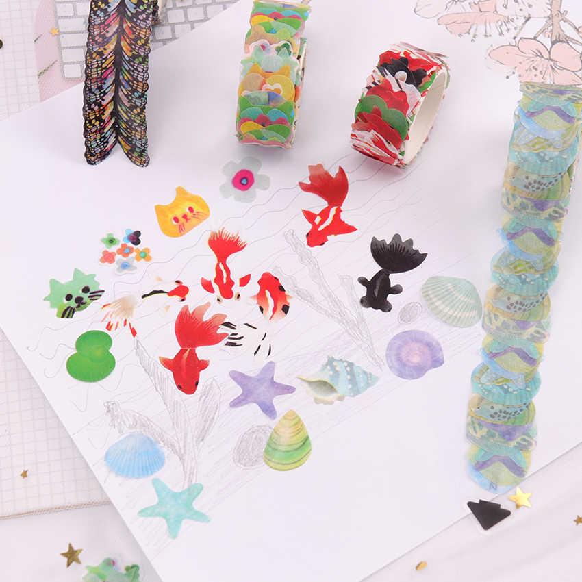 קלטות Washi DIY סאקורה מדבקת נייר מיסוך קלטת דקורטיבי דבק קלטות רעיונות מכתבים מדבקות