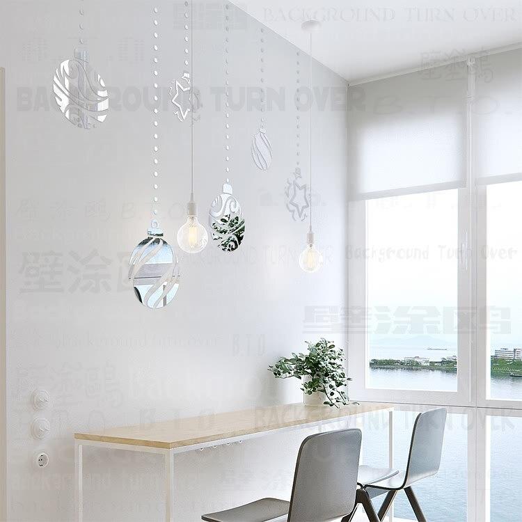 Kreative DIY Dekorative Weihnachtskugeln 3d acryl spiegel wandaufkleber aufkleber schlafzimmer haushaltsgeräte kunststoff spiegel poster R104