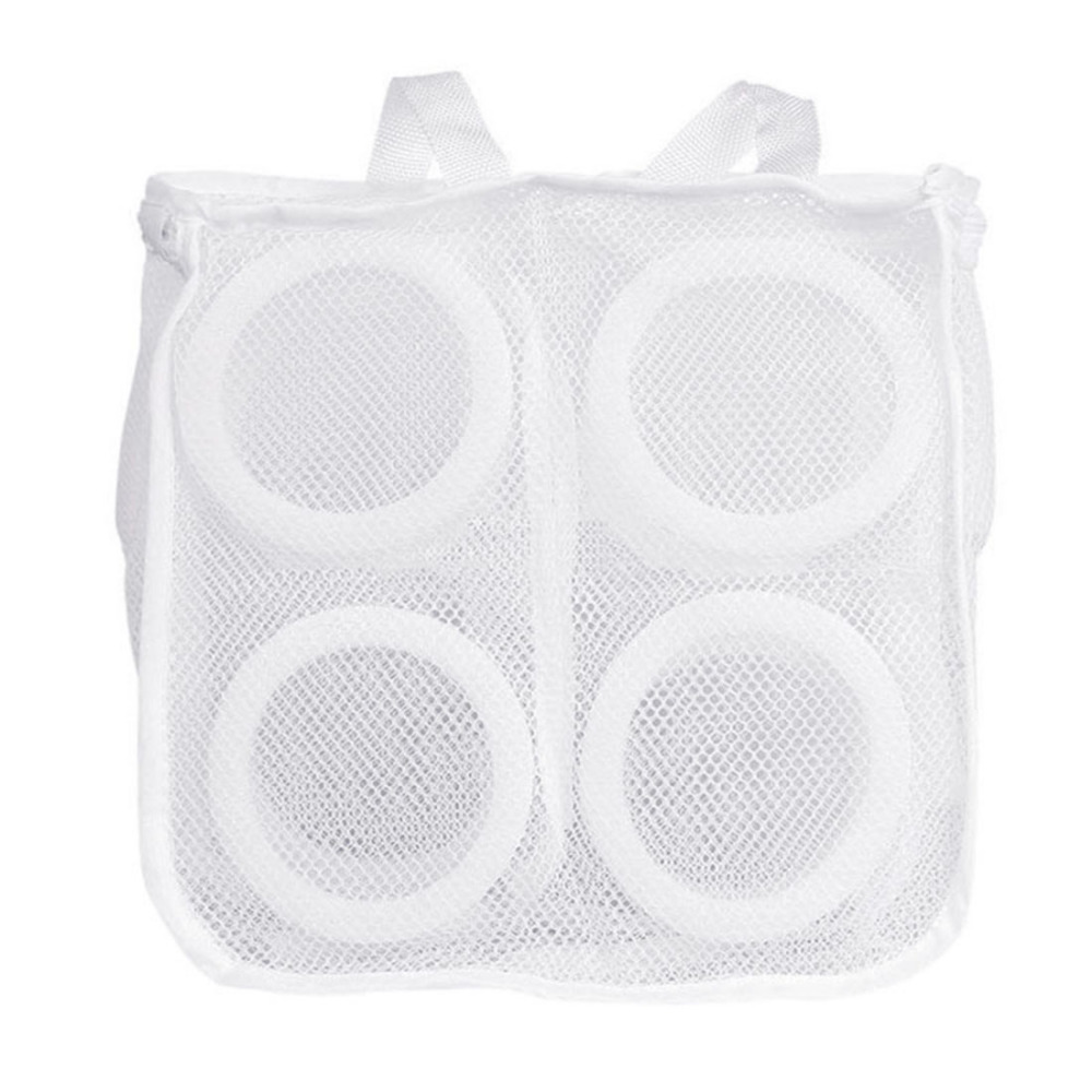 Hanging Dry Mesh Laundry Bag Shoes Wash Machine Laundry Mesh Bag Shoes Protect Storage Organizer Cleaning Tools