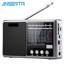 JINSERTA المحمولة FM/AM/SW راديو متعددة الفرقة مرحبا فاي راديو المتكلم مع مصباح يدوي دعم TF بطاقة/U القرص سماعة اللعب