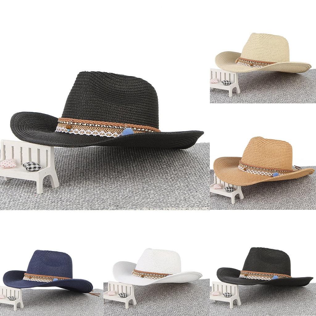 Bucket Hat Men Women Retro Western Cowboy Riding Fisherman Hat Leather Belt Wide Brim Cap Bucket Hat Women Bob Chapeau