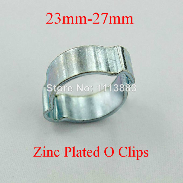 10) Zinc Plated Double Ear Crimp O Clips Air Fuel Hose Pipe Clamps ...