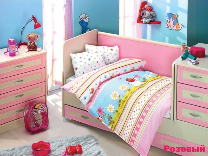 Bedding Set for baby ALTINBASAK, GULUCUK, pink bedding set for baby altinbasak puffy cream