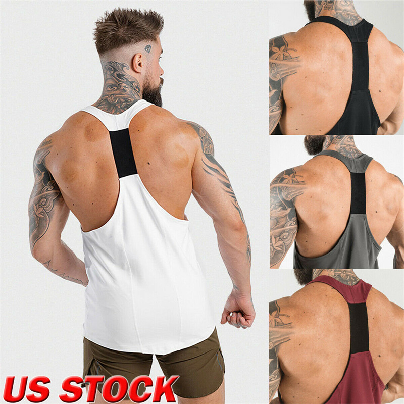 Fashion Men's Fit Sleeveless Slim Muscle   Tops   Bodybuilding   Tank     Tops