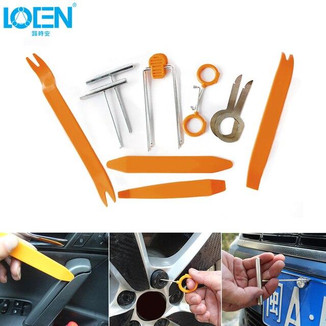 12pcs/set Car Intrerior Panel Remove Tools Door Trim Radio Fastener ...