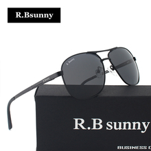 R.Bsunny Light alloy frame polarized sunglasses Fashion brand Men Women classic sun glasses Polaroid lens Driving UV400 Goggles
