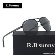 R.Bsunny Light alloy frame polarized sunglasses Fashion brand Men Women classic sun glasses Polaroid lens Driving UV400 Goggles
