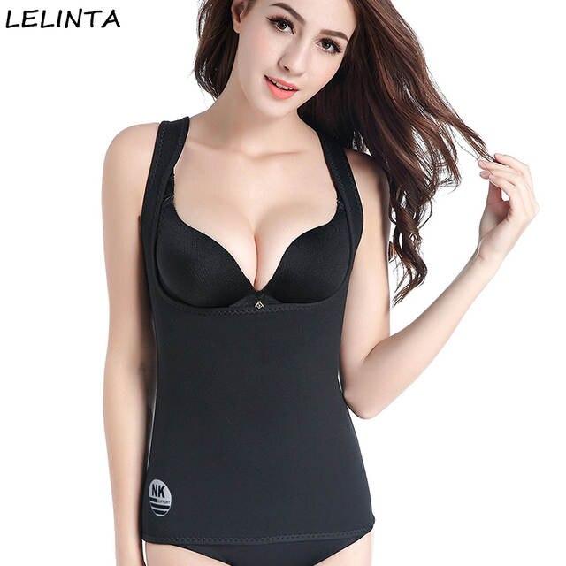 2f5989b39ef placeholder LELINTA Women s Hot Sweat Body Shaper Slimming Neoprene Shirt Vest  Weight Loss Tummy Fat Control Shapewear