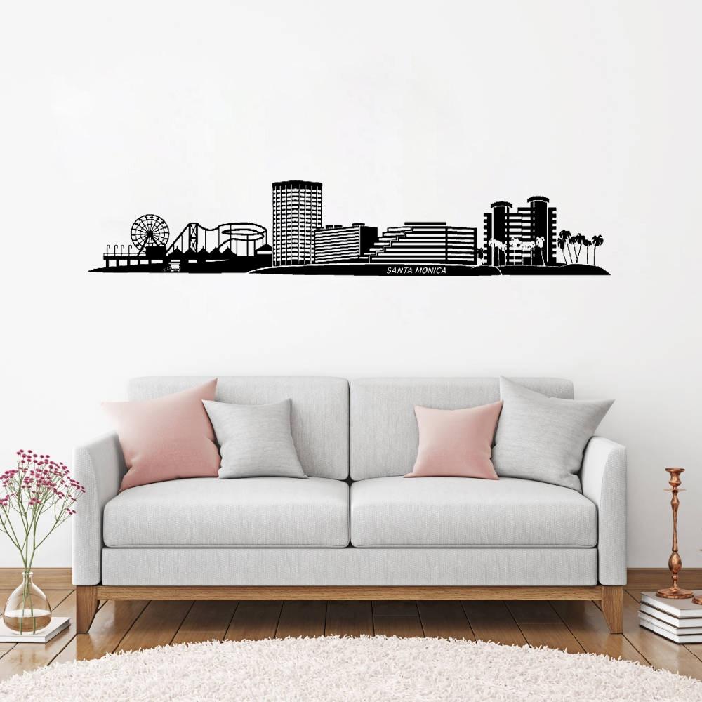 Great Santa Monica CA Skyline Vinyl Wall Stickers Home