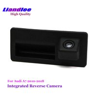Liandlee Car Rearview Reverse Camera For Audi A7 2010 2017 Rear View Backup Parking Camera / HD CCD Trunk Handle Integrated