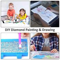 DIY LED Light Board Dimmable Light Stand Clips Mesh Bag Painting Tools for Painting Sketching UD88