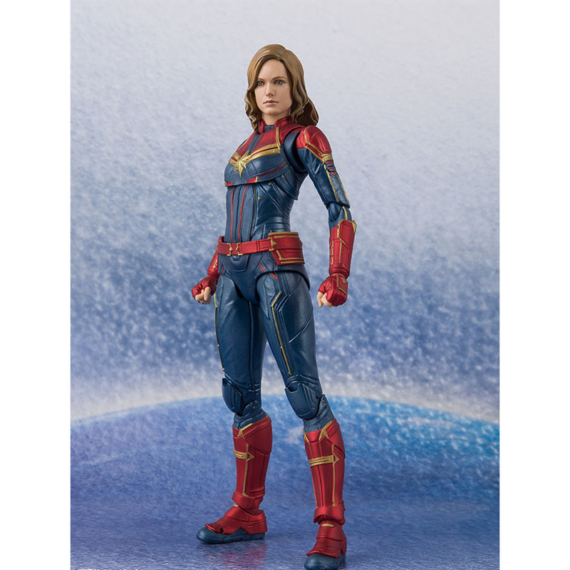 Marvel Avengers SHF S.H.Figuarts Captain Marvel PVC Action Figure Collectible Model Toys Superhero Birthday Present image