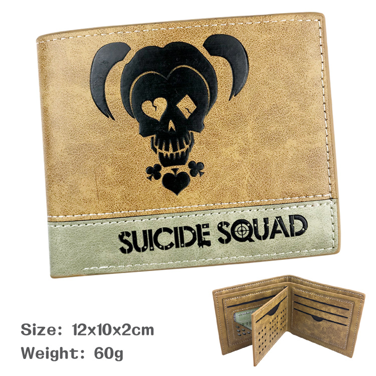 Suicide Squad Wallet The Joker Harley Quinn DC Comics Bifold Men Women Wallets With Card Holder Purse dc comics suicide squad wallet the joker purse harley quinn leather pu short wallets with card holder purses