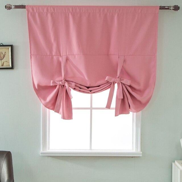 Modern Minimalist Purple Blackout Short Curtains For Kitchen - Roman blind bathroom